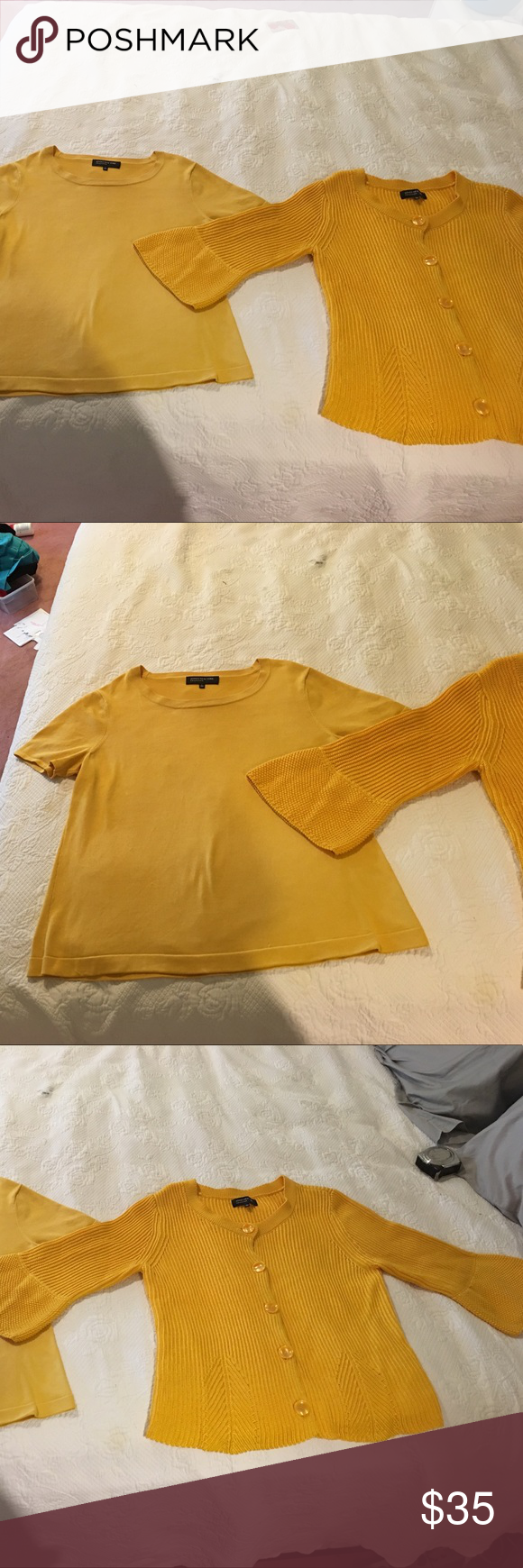 Yellow Sweater Set By Jones New York COLLECTION