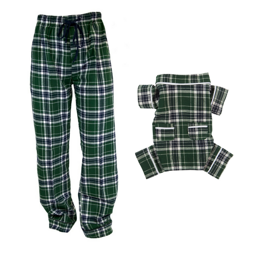 Flannel shirts for dogs  Matching Dog  Human Plaid Flannel Pajamas Flannel Dog Pajamas Dog