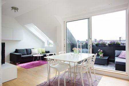 45 m² diáfanos con terraza | Pinterest | Cocinas pequenas modernas ...