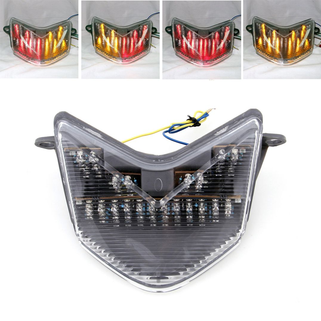 Mad Hornets Tail Light With Integrated Turn Signals For For Kawasaki Ninja Zx 6r 636 Z750s 05 06 Zx10r 06 07 Clear Kawasaki Ninja Kawasaki Ninja Zx6r Zx6r