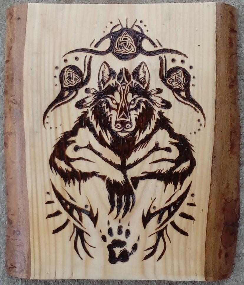 Эскизы на нарды волк картинки