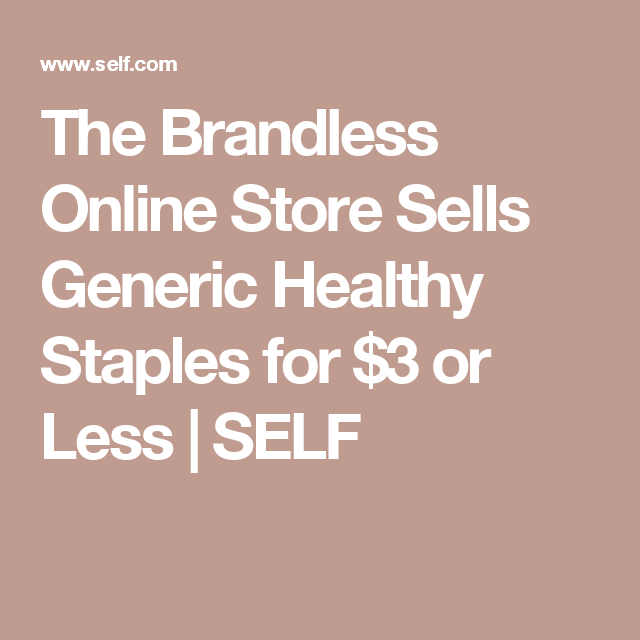 every healthy food staple at the brandless online store is 3 or less