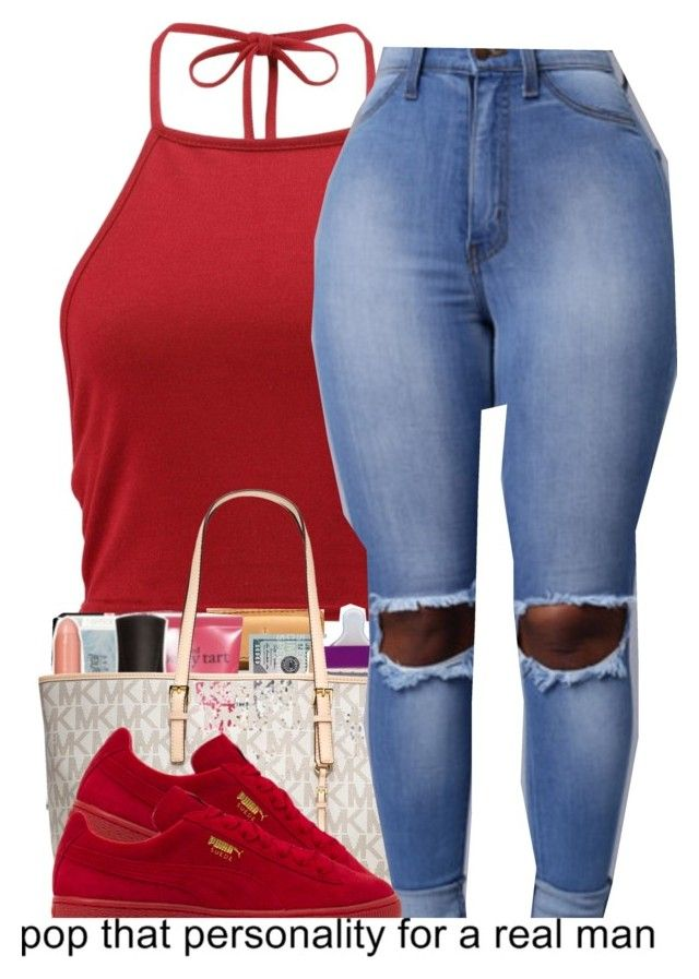 """""""Wednesday """" by baaaditori ❤ liked on Polyvore featuring MICHAEL Michael Kors and Puma"""