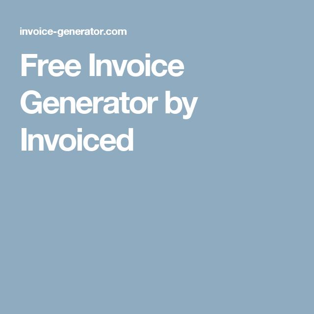 free invoice generator by invoiced crafts pinterest generators