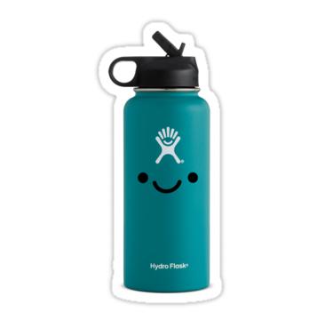 Aqua Hydro Flask Stickers By Kattykatiekat Redbubble Hydroflask Flask Hydroflask Stickers