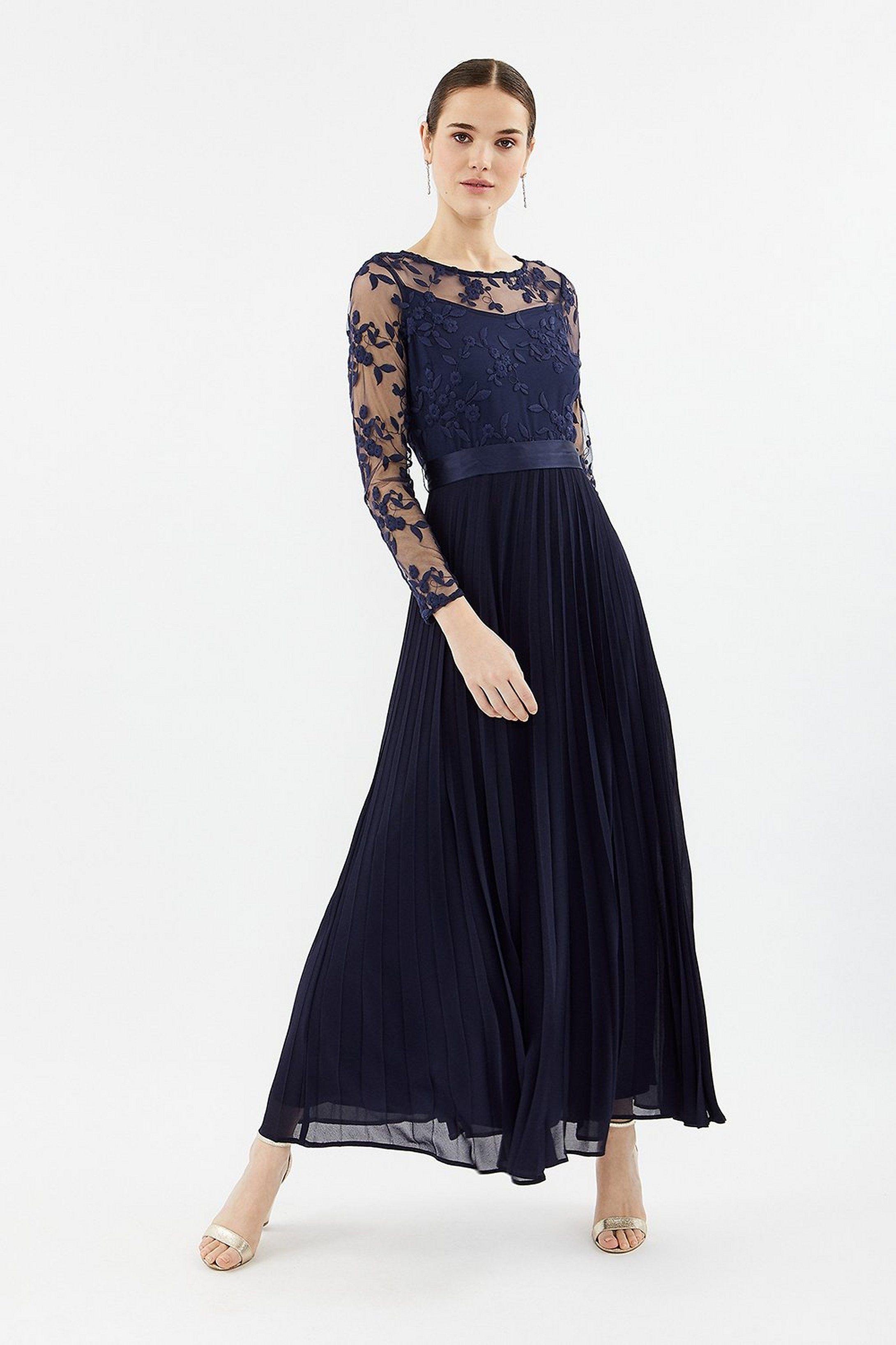 Awaken My Love Burgundy Long Sleeve Lace Maxi Dress in