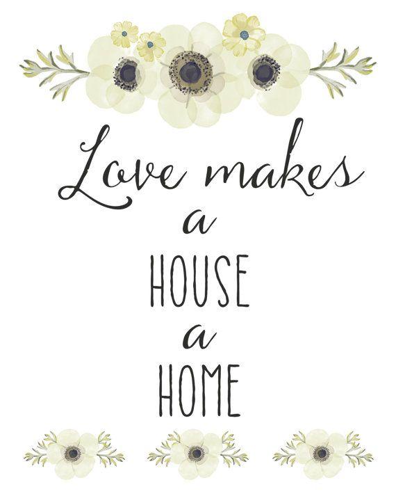Love Makes a House a Home Print Wedding Print by