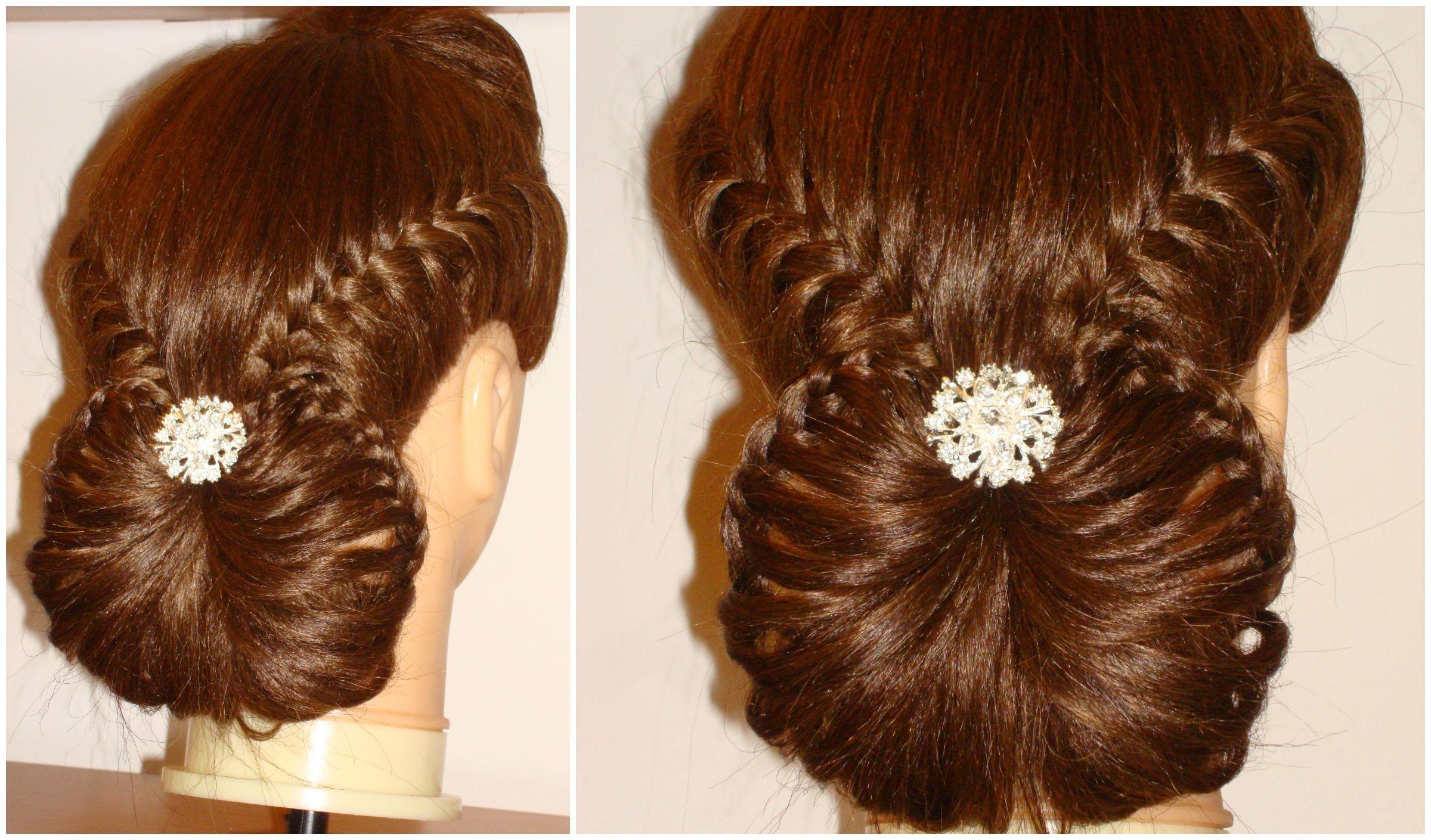 Fish Tail Braid / Lace Braid Hair Up / Hair Tutorial ...