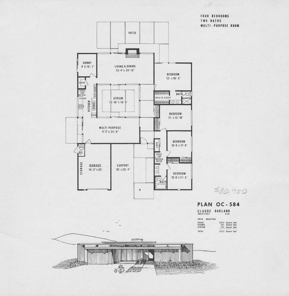 Eichler Floor Plans Fairhills Eichlersocal Mid Century Modern House Plans Modern House Plans House Floor Plans