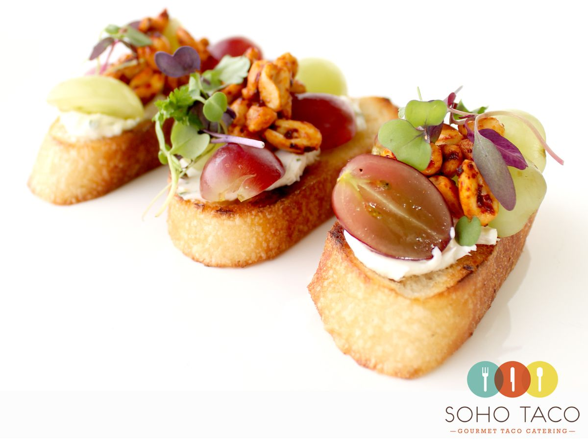 SOHO TACO Gourmet Taco Catering's Rebanadas de Uva Appetizers.