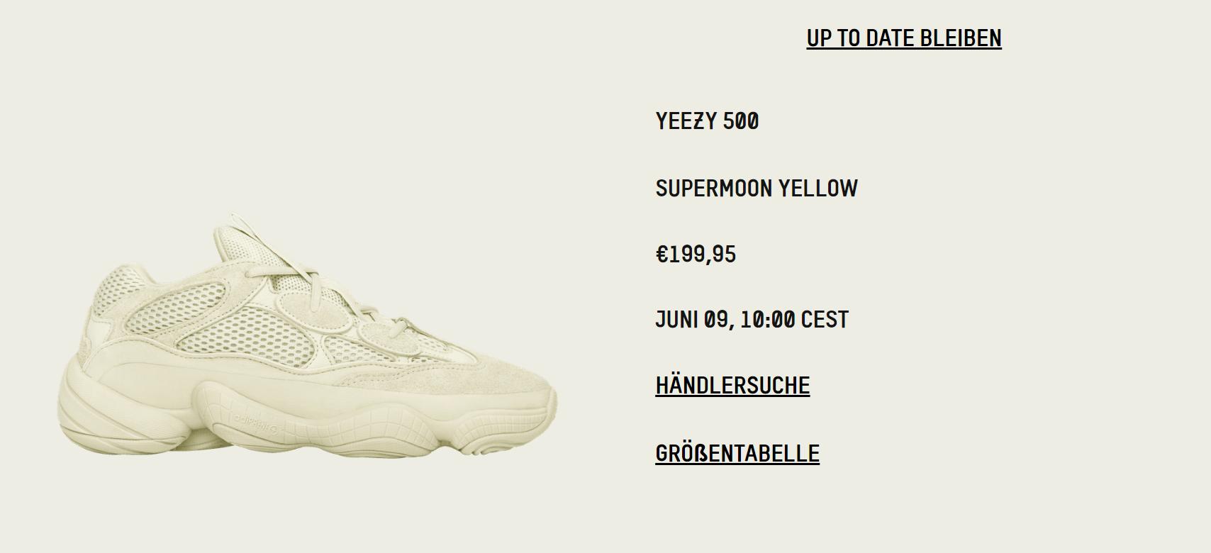 Yellowadidas adidas Super YEEZYAdidas Moon 500 Yeezy DIWEH92