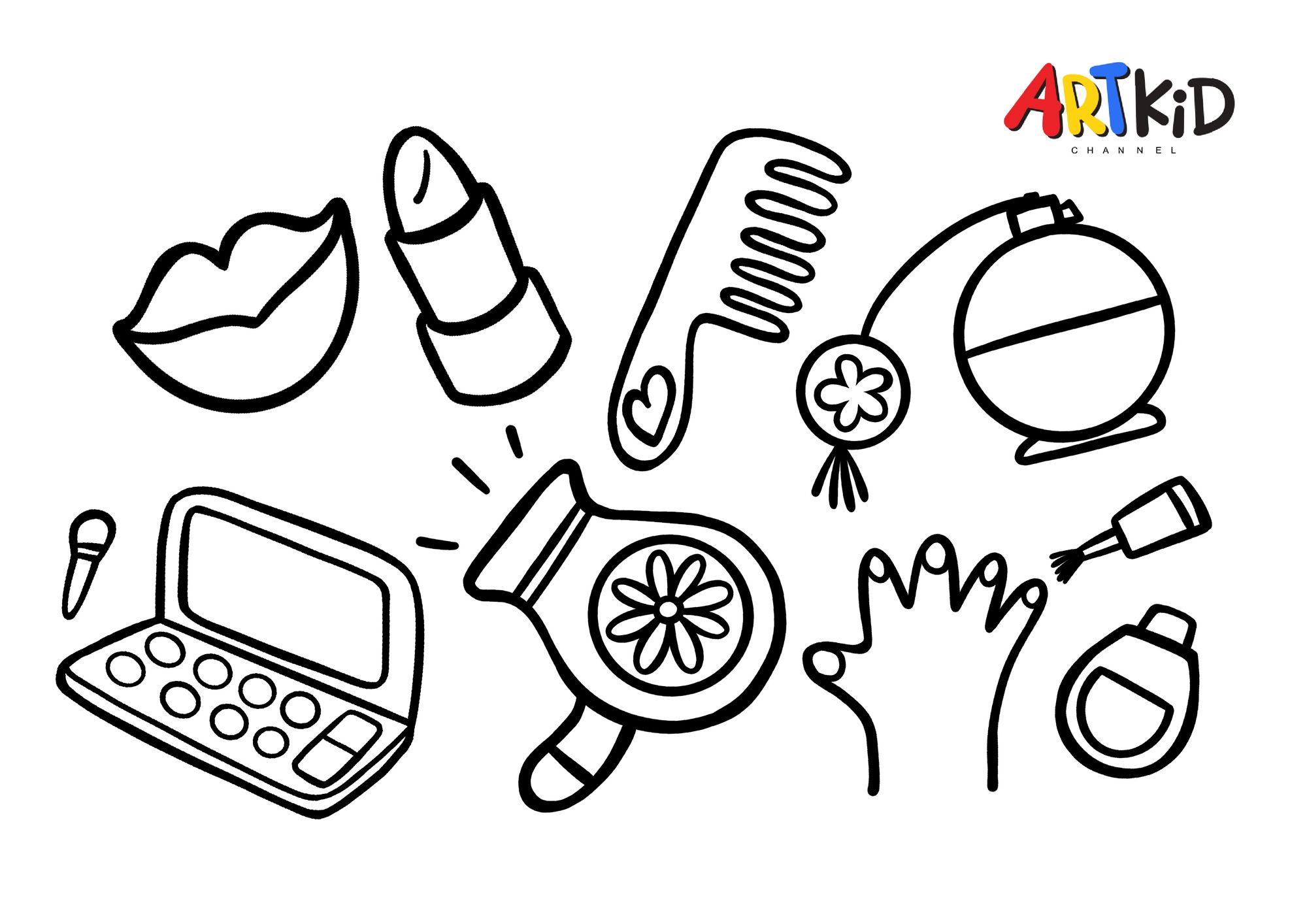 Beauty Corner Free Printable Coloring Pages