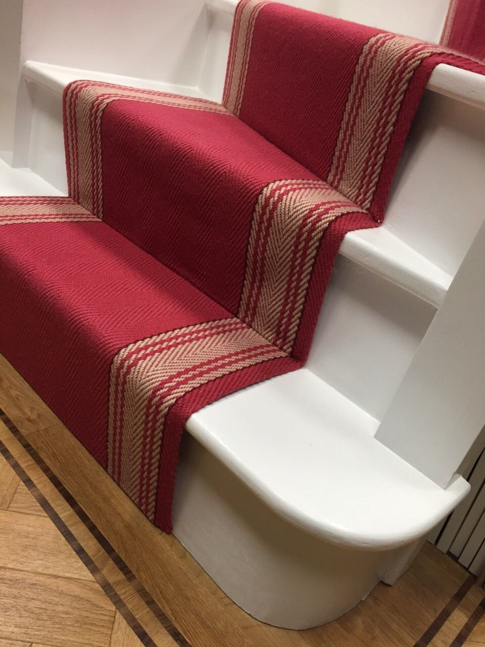 projects portfolio Textured carpet, Oak plank floor