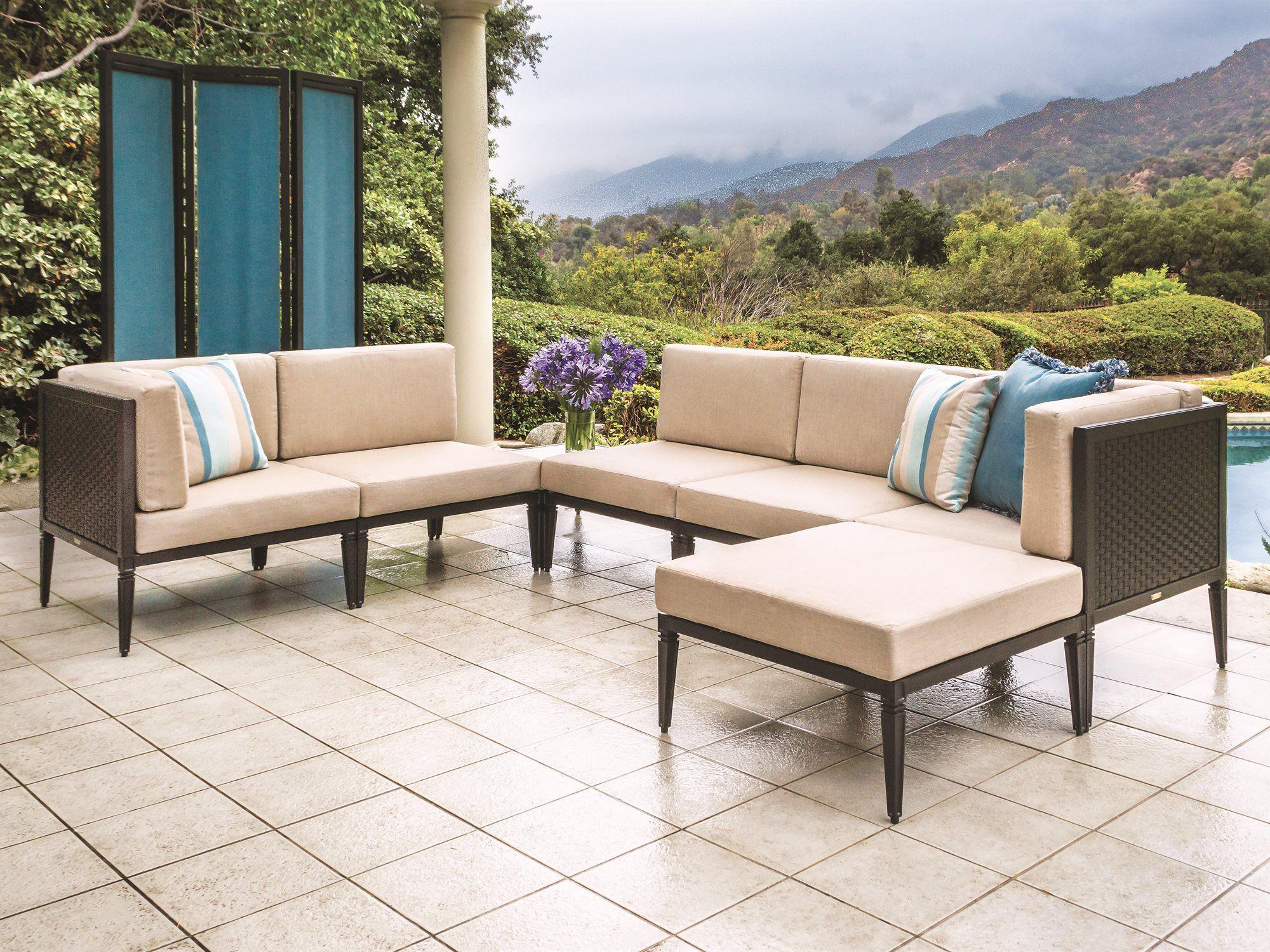 Gensun Drake Woven Modular Cushion Lounge Set Outdoor Living