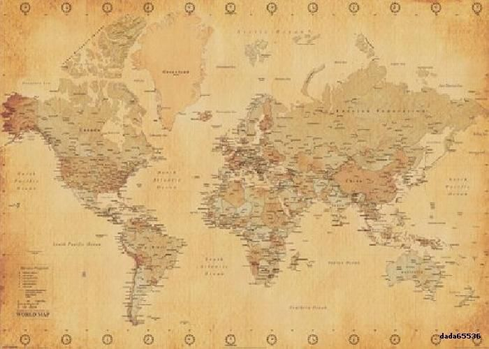 OVERSIZED WORLD MAP EXTRA LARGE SCHOOL GLOBE WALL POSTER ANTIQUE