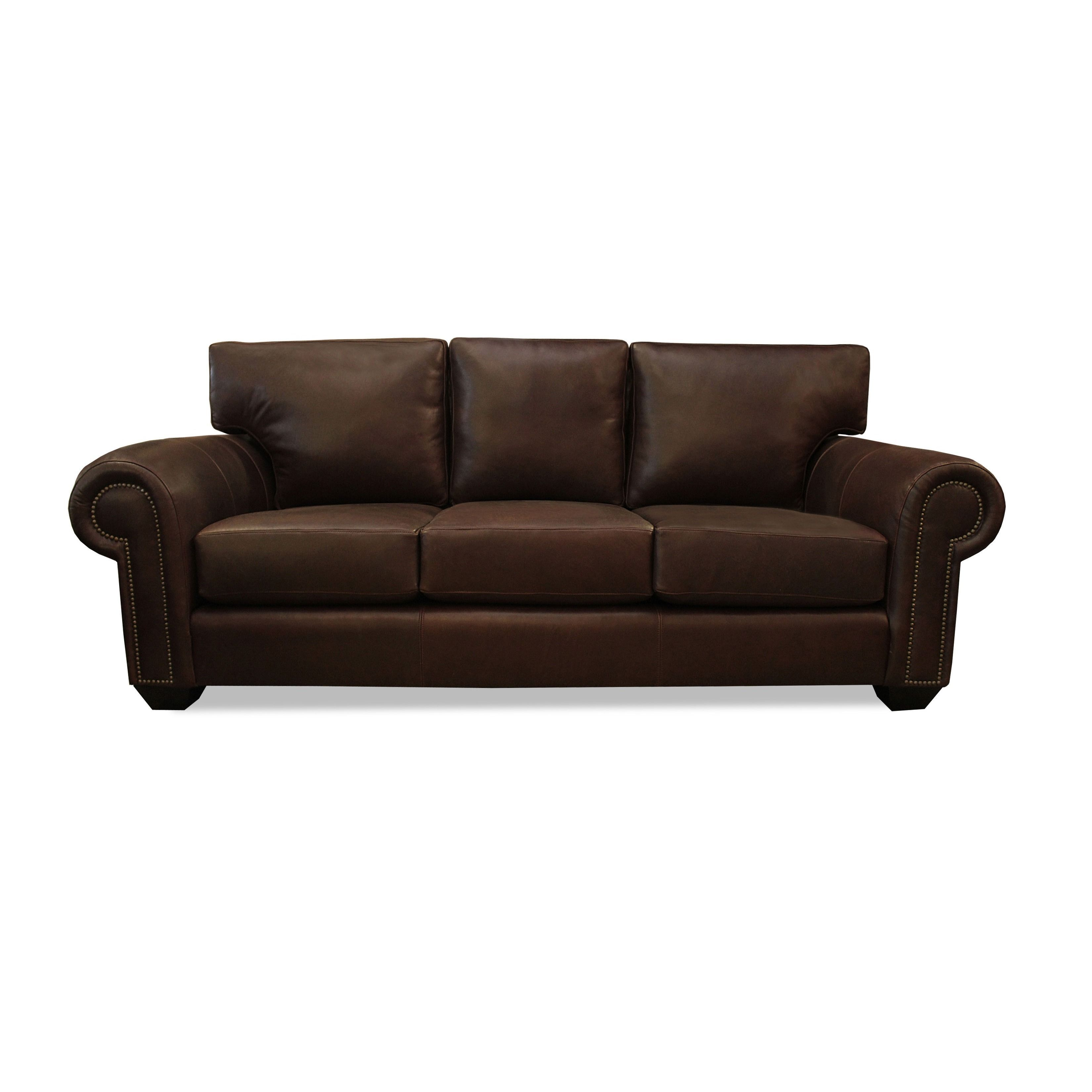 South Cone Home Made to Order Cambridge Italian Leather Sofa 90