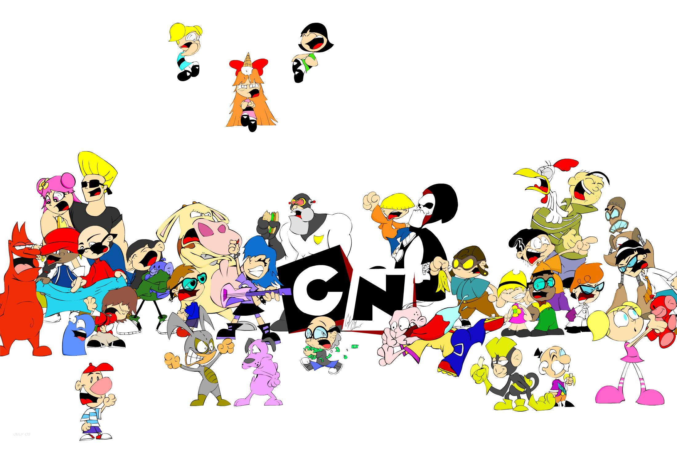Cartoon Network Characters Wallpaper Full Hd Cartoon