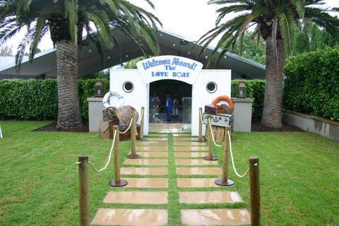 Cruise Party Nautical Theme Entrance Marquee Styling By Bay - Cruise ship theme party