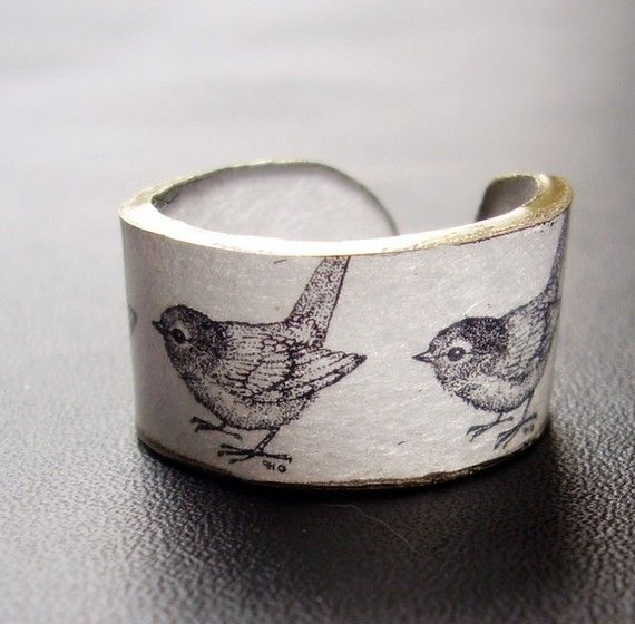 Marching Birds Ring  Choose Your Size by dillondesigns on Etsy, $5.99