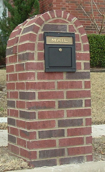 Gallery For Brick Mailbox With Planter Mailbox Designs