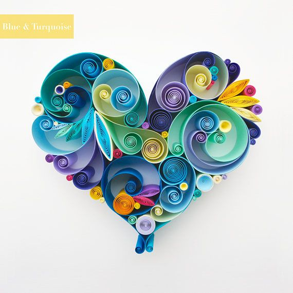Love is All Around Quilling Art Unique gift for Anniversary