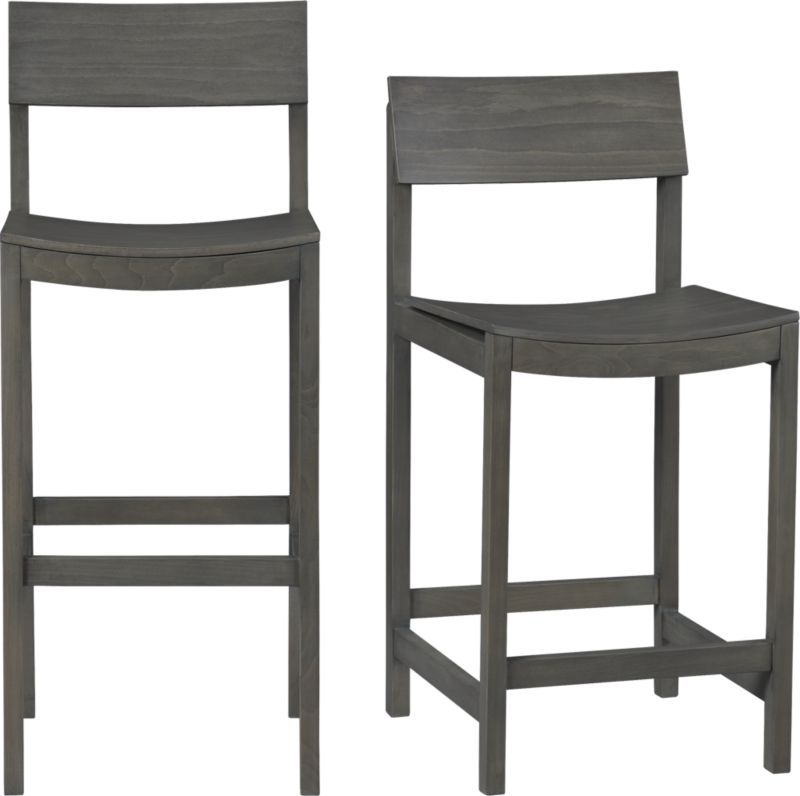 Grey Kitchen Bar Stools: Slide Grey Barstools