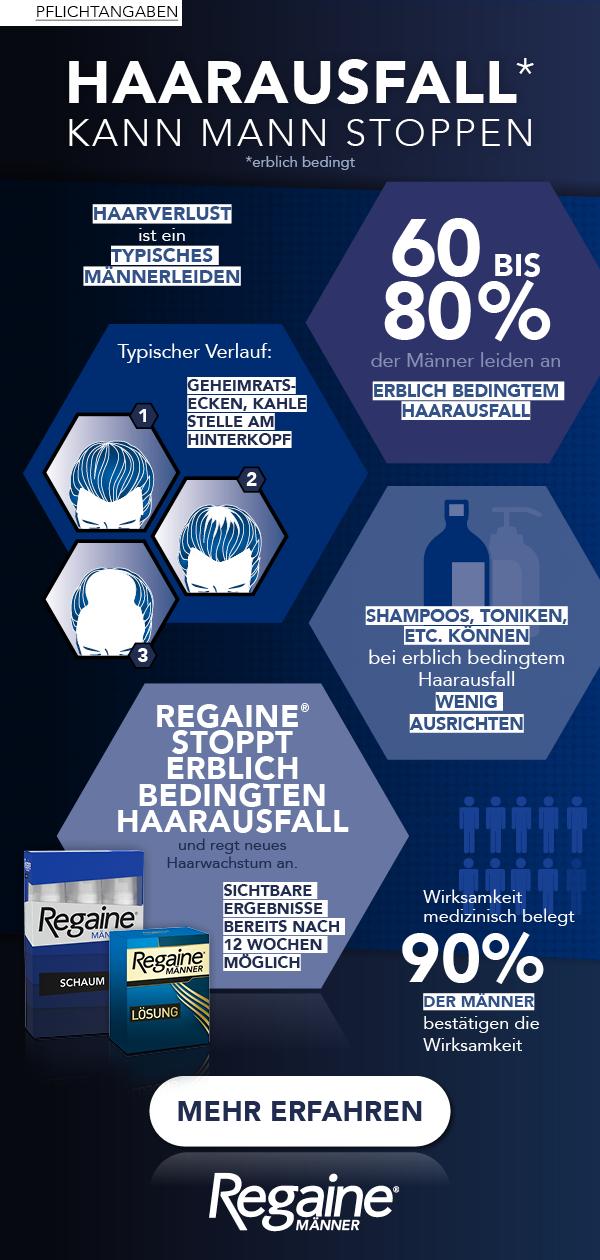 Wissenswertes über Haarausfall bei Männern