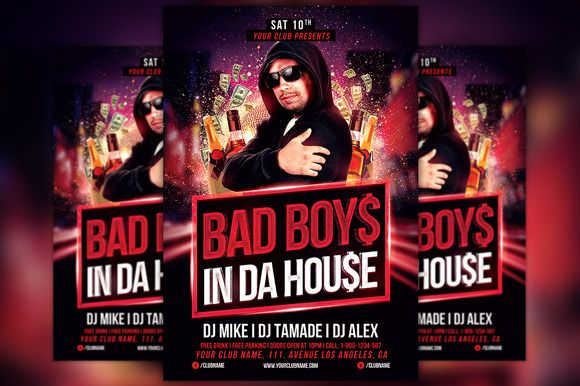 Check Out Bad Boys Party Flyer Template By Flyermind On Creative