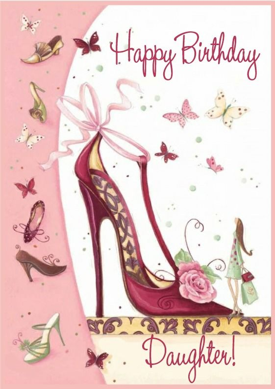 Daughter Birthday Card Shoes 199 Card Making Pinterest