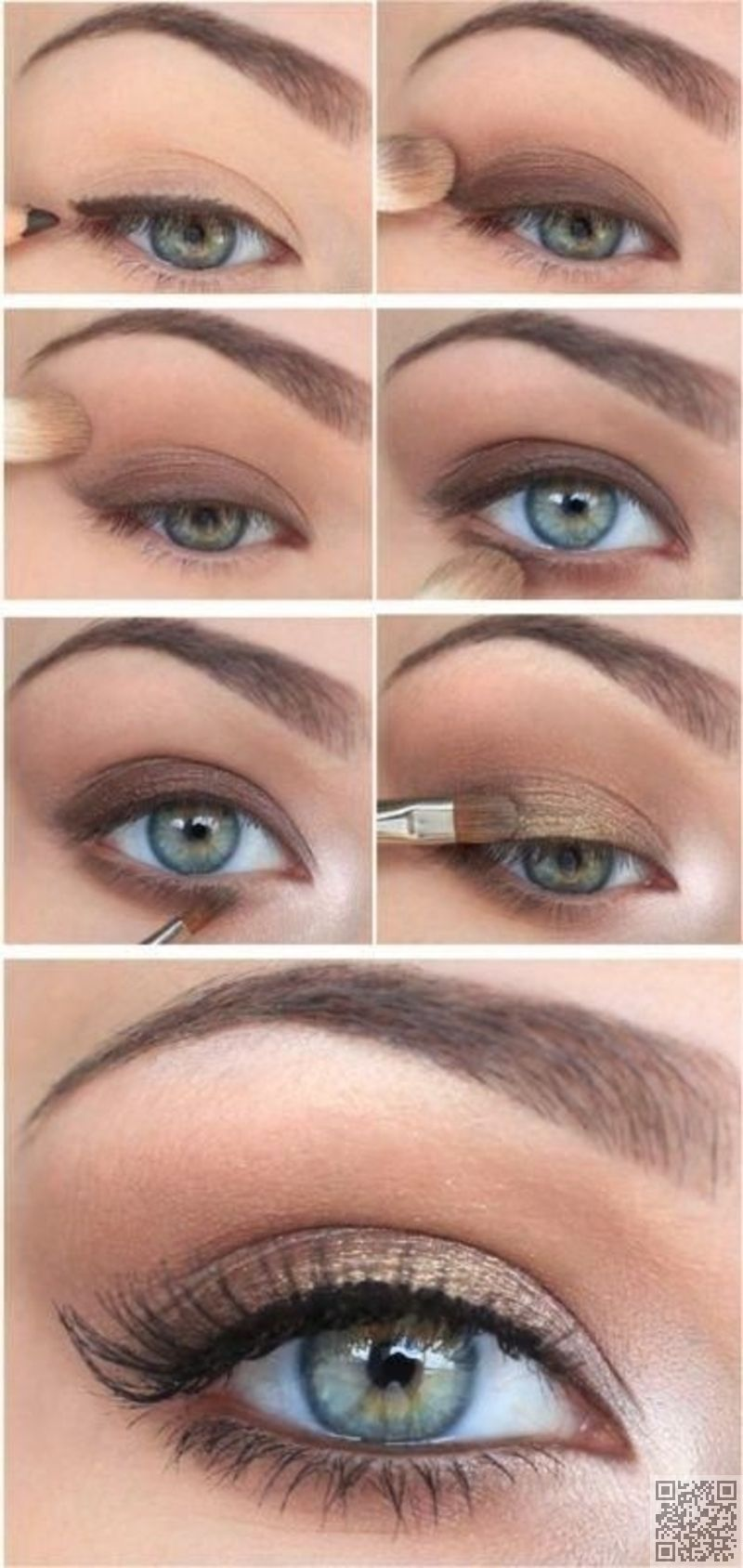 Pair Up Neutral Tones To Highlight Your Lashes And Make Your Eyes Look Brighter Eye Makeup Tutorial Christmas Eye Makeup Eye Makeup