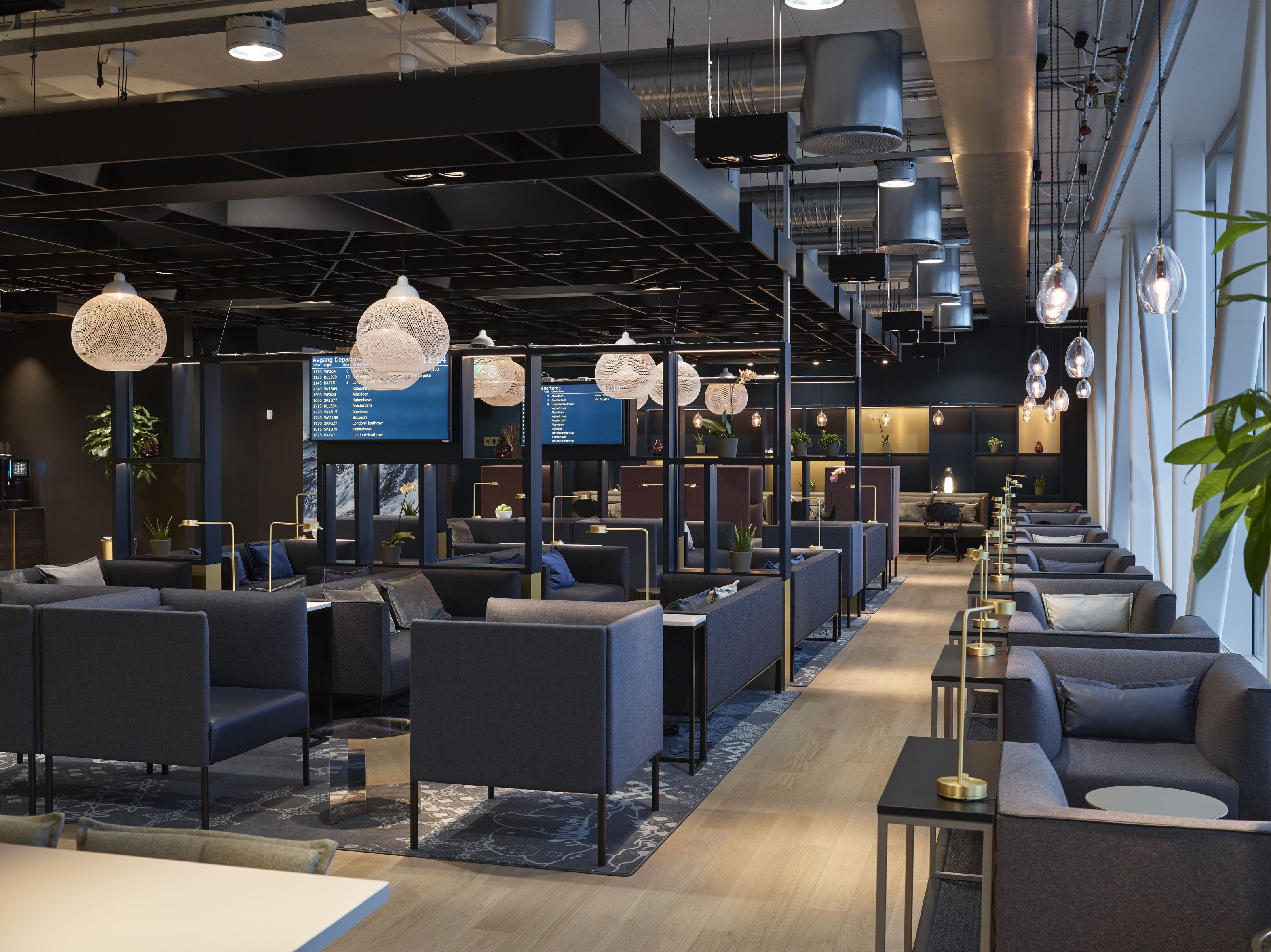 Business lounge at stavanger airport sola designed by for Food bar stavanger