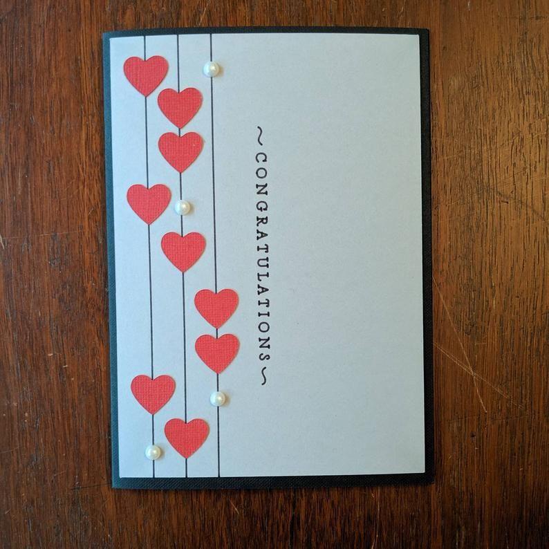 congratulations love card  wedding engagement bridal