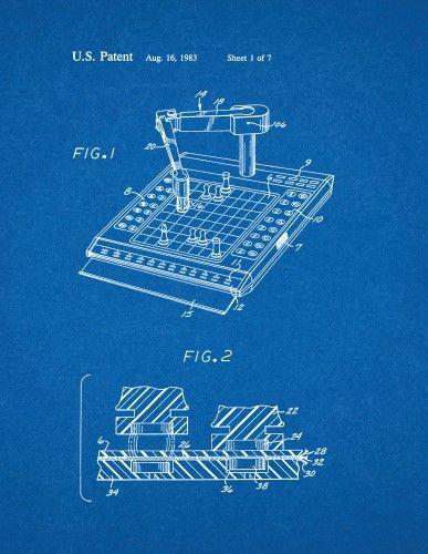Robot computer chess game patent print art poster blueprint 18 x robot computer chess game patent print art poster blueprint 18 x 24 malvernweather Images