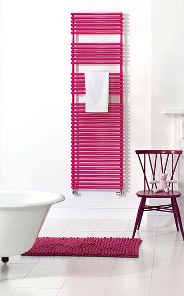 Bisque Straight Fronted Towel Radiator - Available in chrome, white ...