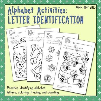 Letter Identification Worksheets For Kindergarten