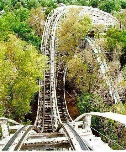 My favorite photo of the scariest hill on Mister Twister of the 70s ...