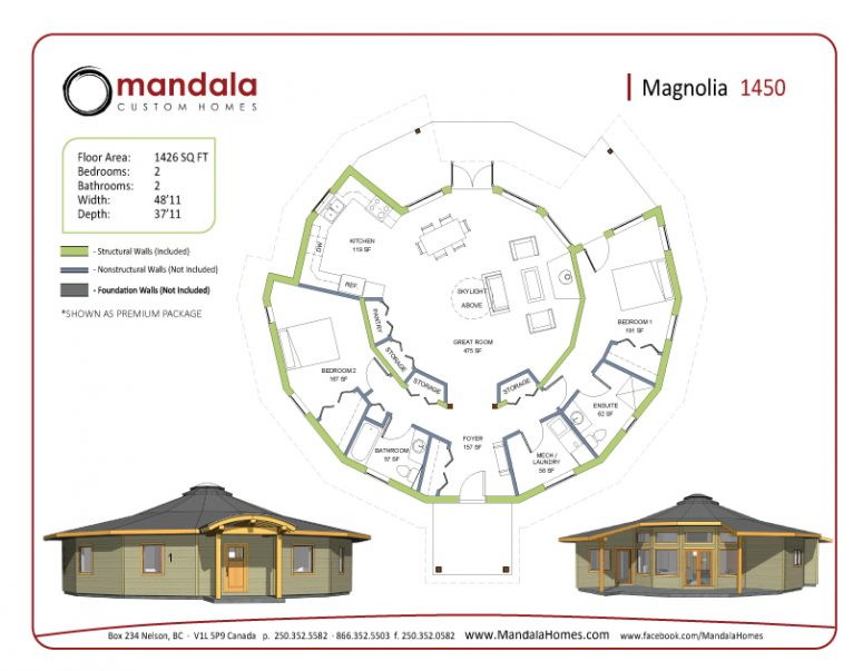 Magnolia Series Floor Plans Mandala Homes Prefab Round Homes Energy Star Qualified Builder Timber Accents Luxury Cus In 2020 Flooring How To Plan Floor Plans
