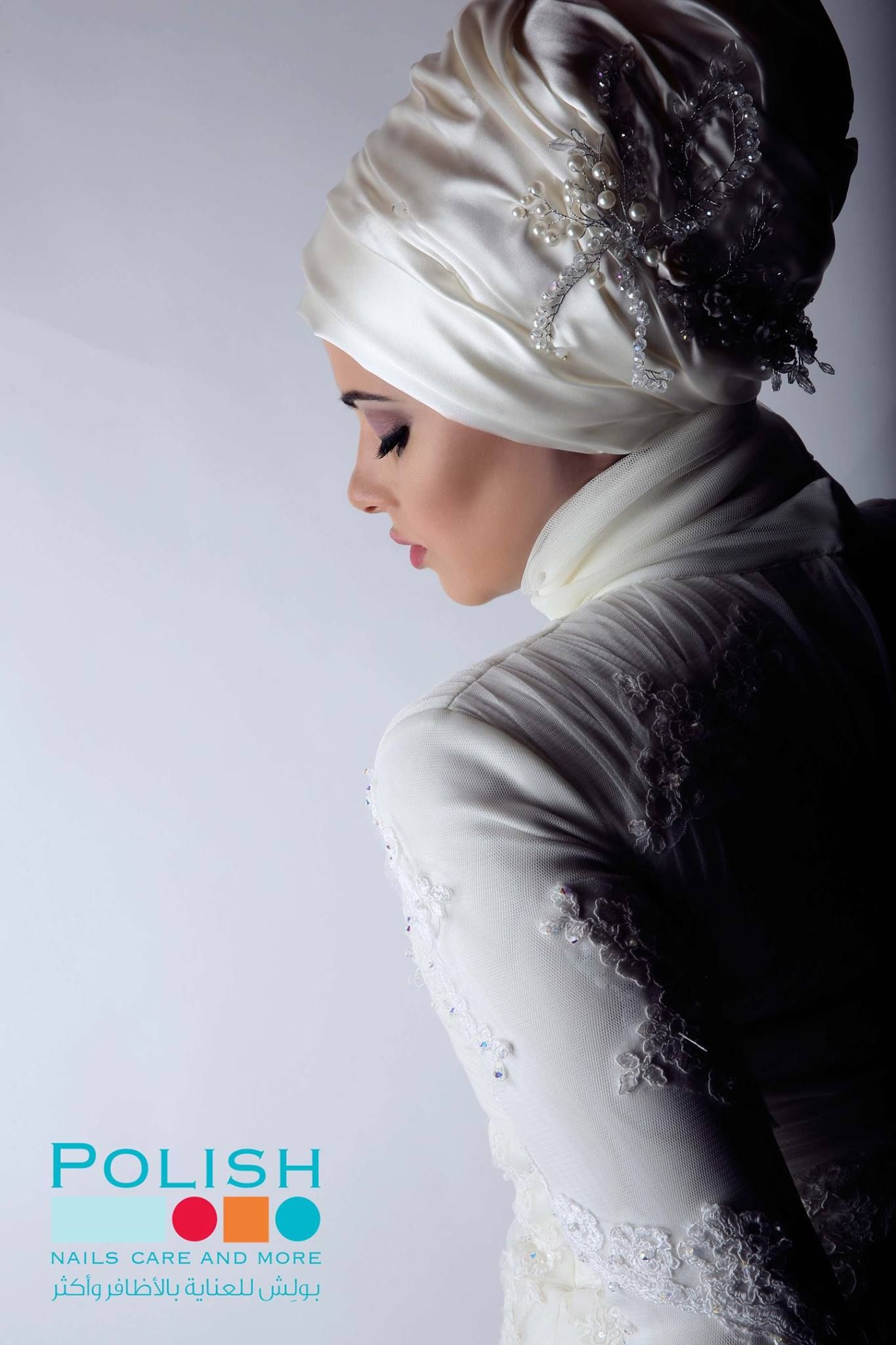 Hijab style for bride turban hijabclinic Check all our work on social media hijabclinic