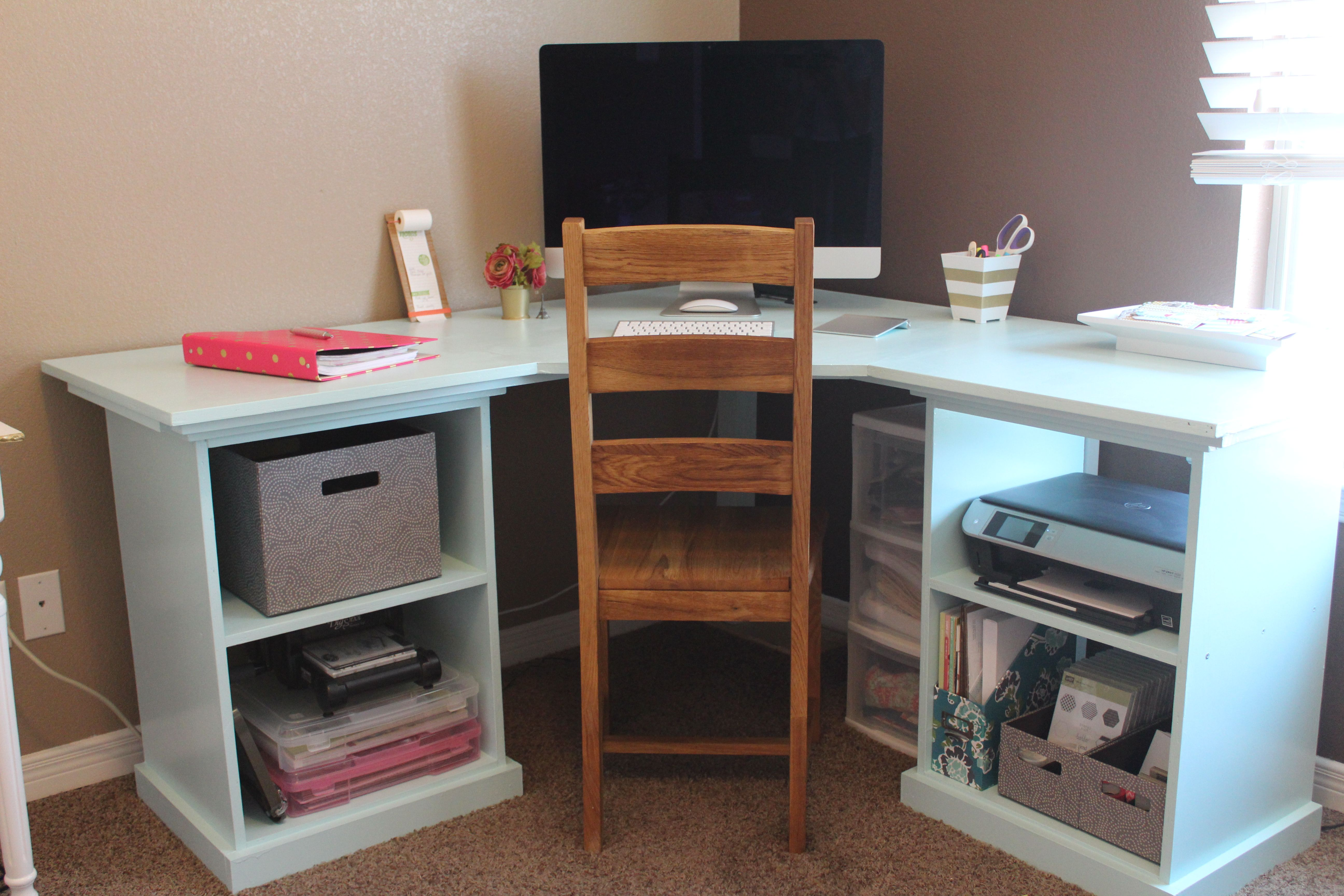 white 2013 11 modular desk my husband built me