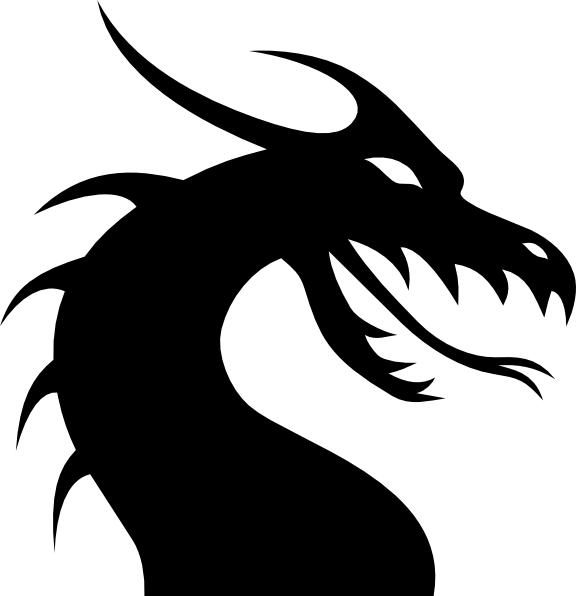 silhoutte+drsgon | Dragon Head Silhouette clip art ...