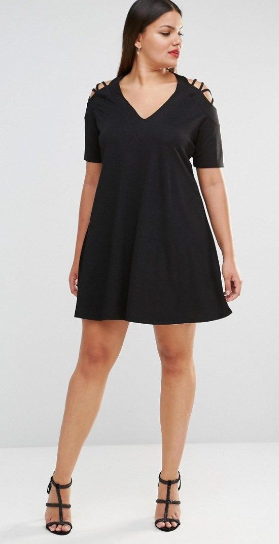 18 Plus Size Black Dresses with Sleeves