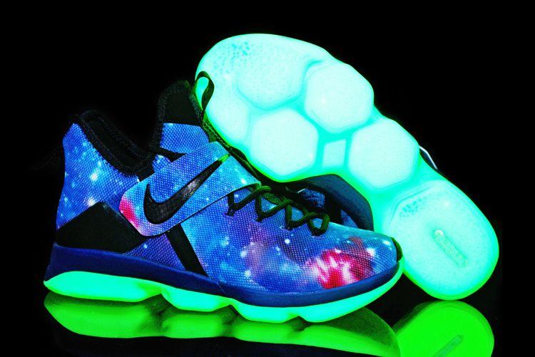 """Men's Nike LeBron 14 """"Galaxy"""" Glow In"""