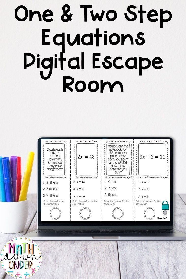 One and Two Step Equations - Distance Learning Escape Room ...
