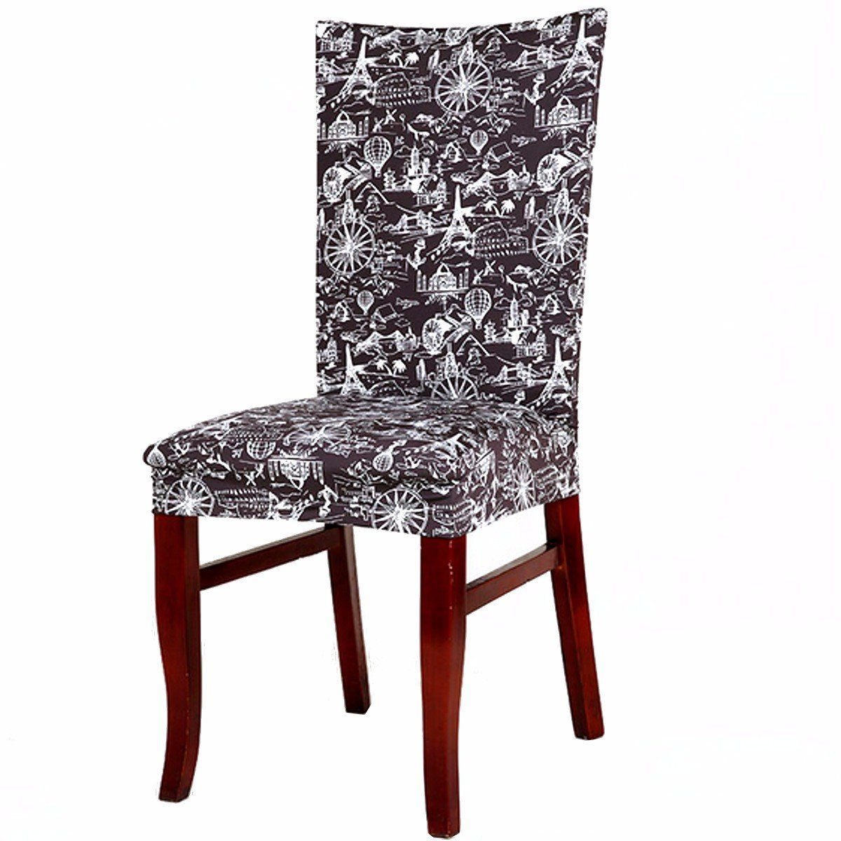 Removable Elegant Chair Cover Stretch Slipcovers Short