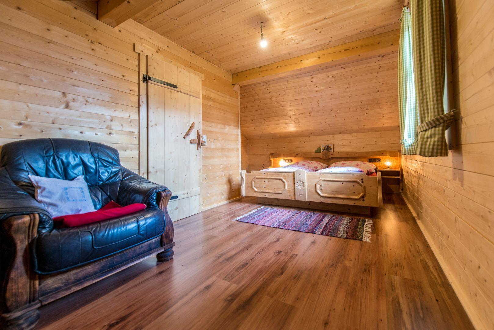 Schlafzimmer aus Holz Haus deko, Berg, Schlafzimmer