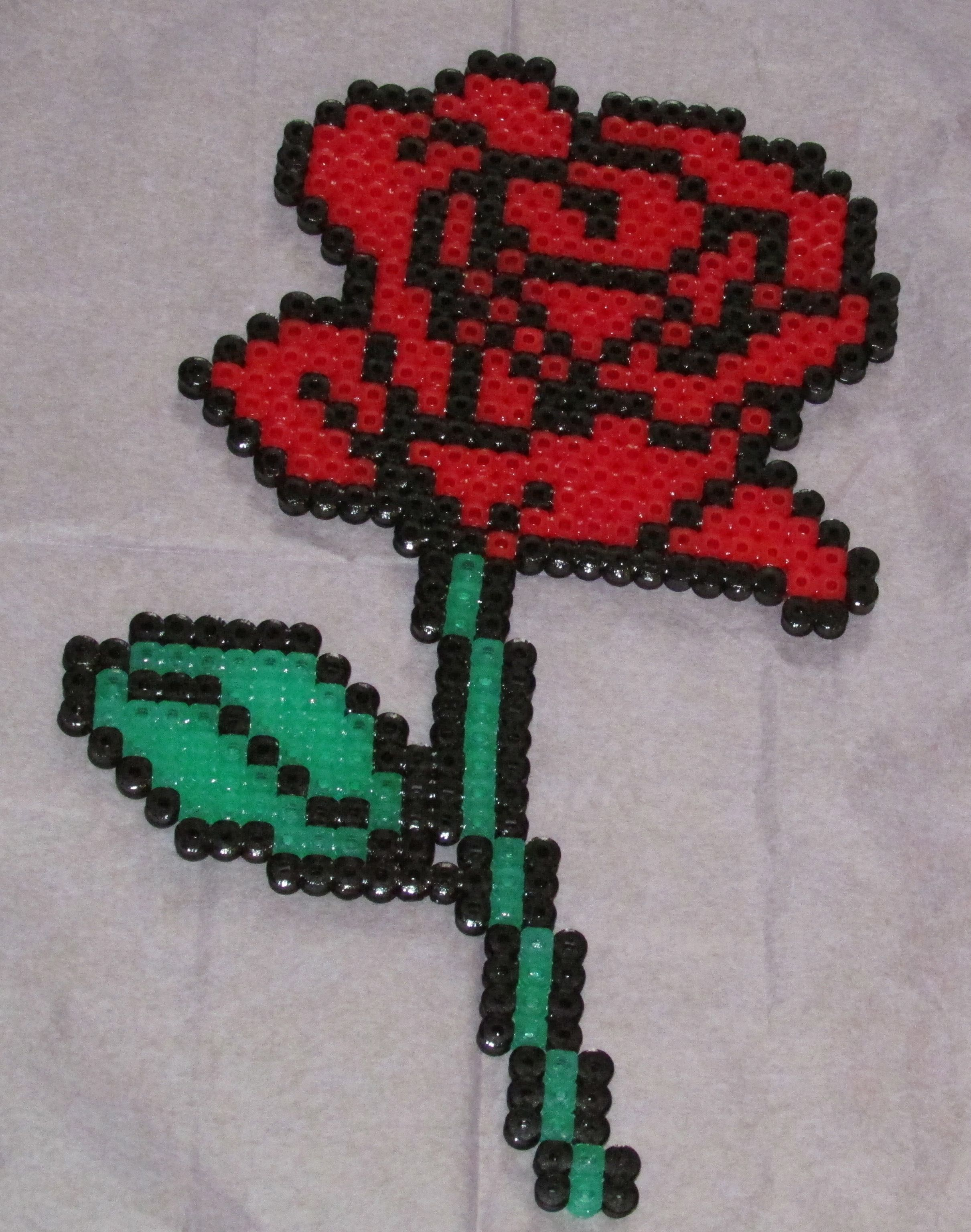 rose hama perler beads by keely jade b gelperlen b gelperlen hama und b gelperlen vorlagen. Black Bedroom Furniture Sets. Home Design Ideas