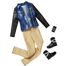 Barbie Fashion Clothing for Ken - Jean Jacket, Tan Pants and Cell Phone