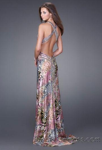 La Femme Cheetah Print Prom Dress Des Moines Weddings Pinterest