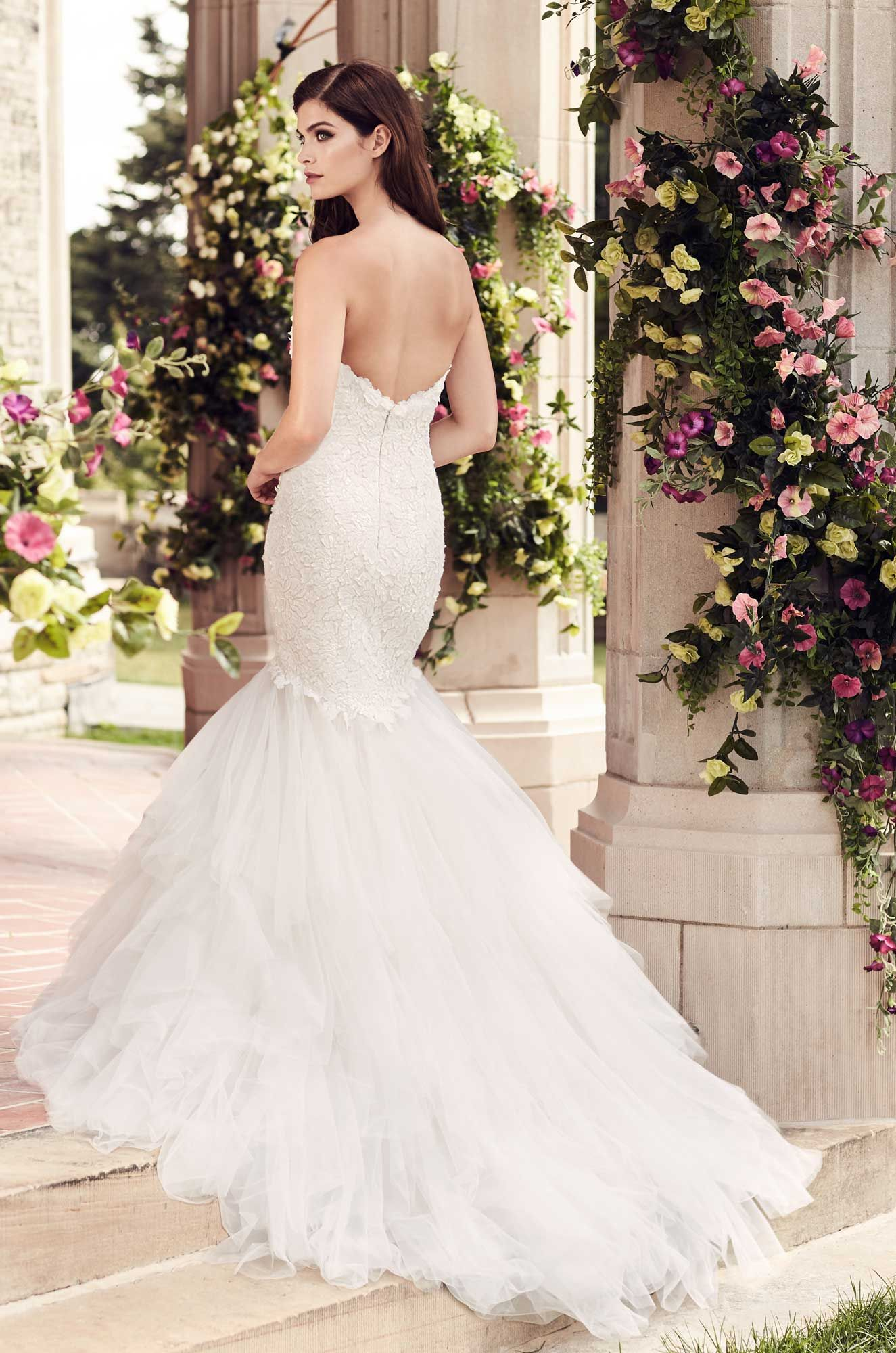 Fitted laser cut lace wedding dress style wedding dresses