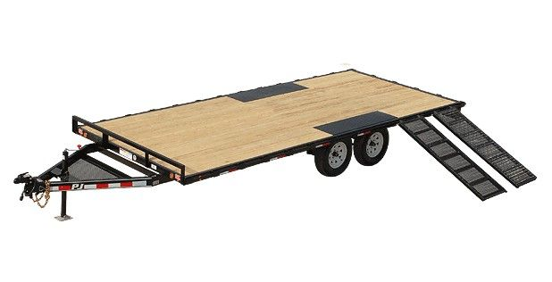 Pj Trailers Light Duty Deckover 5 Channel With Images Pj Trailers Utility Trailer Equipment Trailers